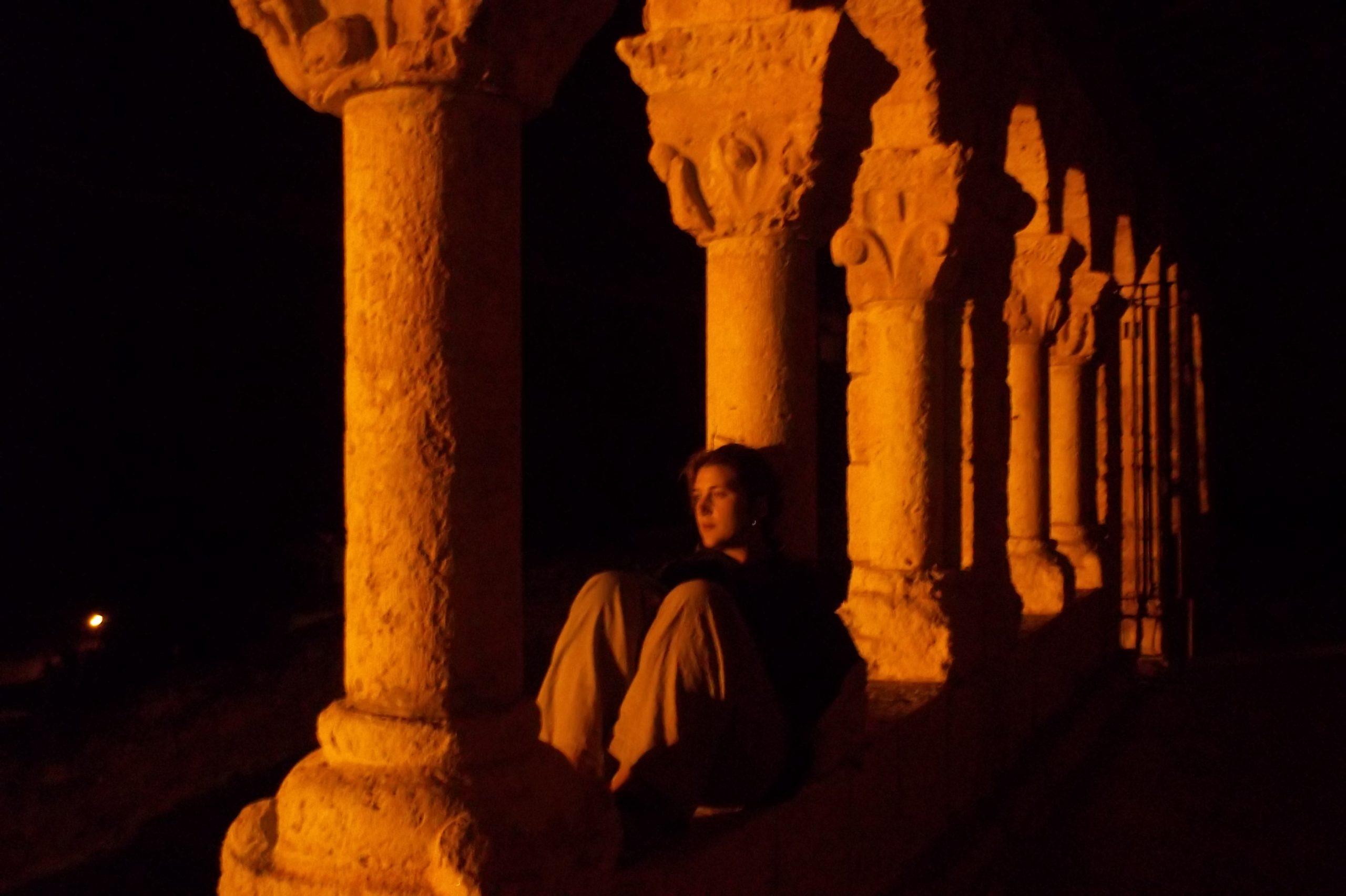 Le colonne della Chiesa di San Miguel a San Esteban de Gomaz