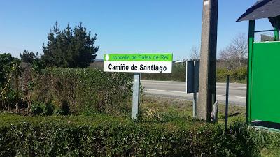 Indicazioni del cammino di Santiago