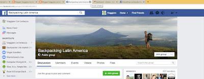 gruppi facebook per viaggiare