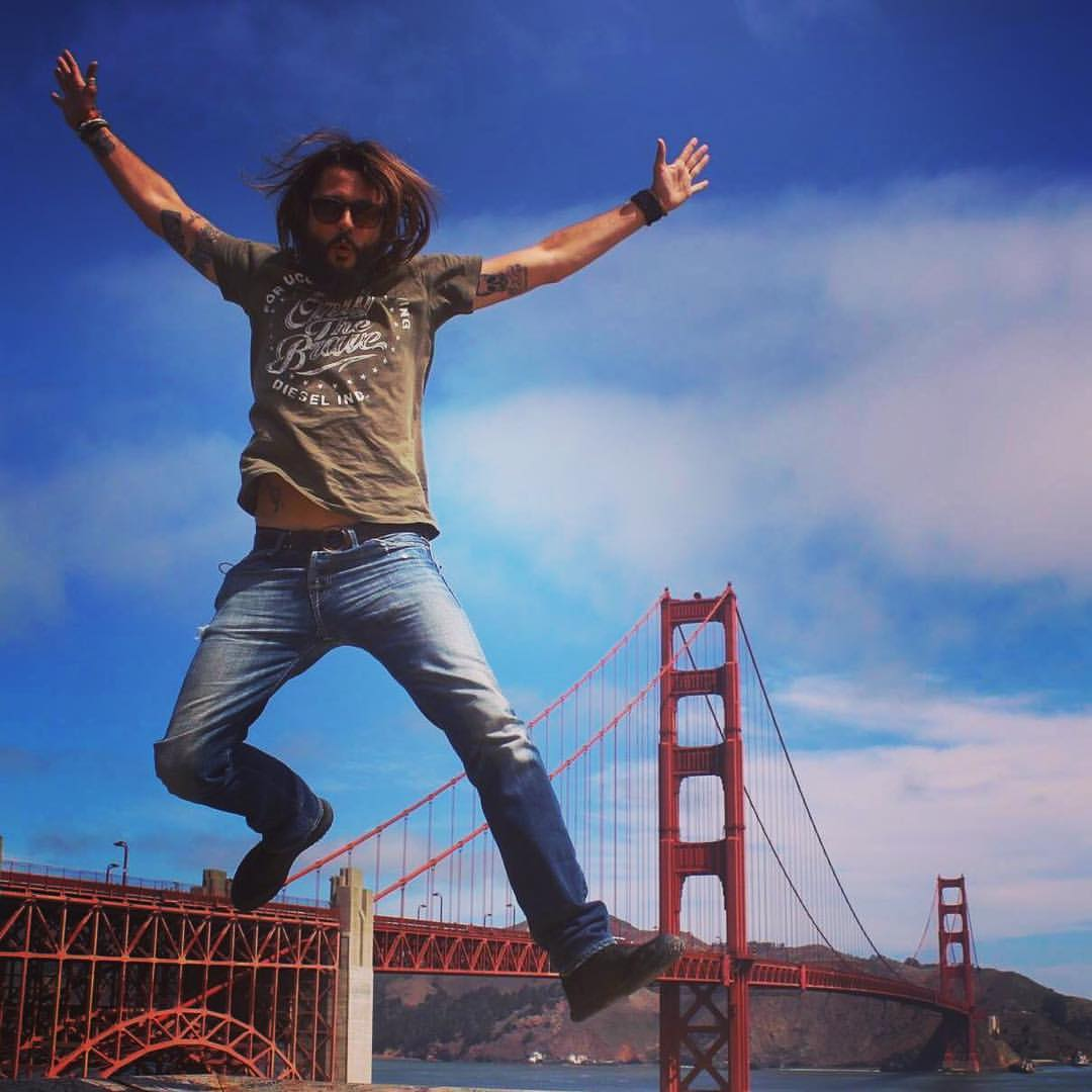 Claudio Pelizzeni sul Golden Gate