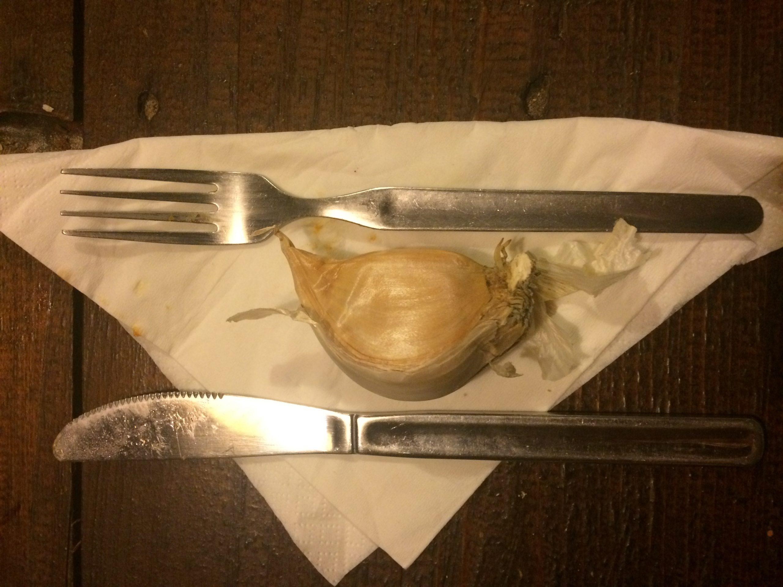 L'aglione per fare il sugo degli Umbrichelli