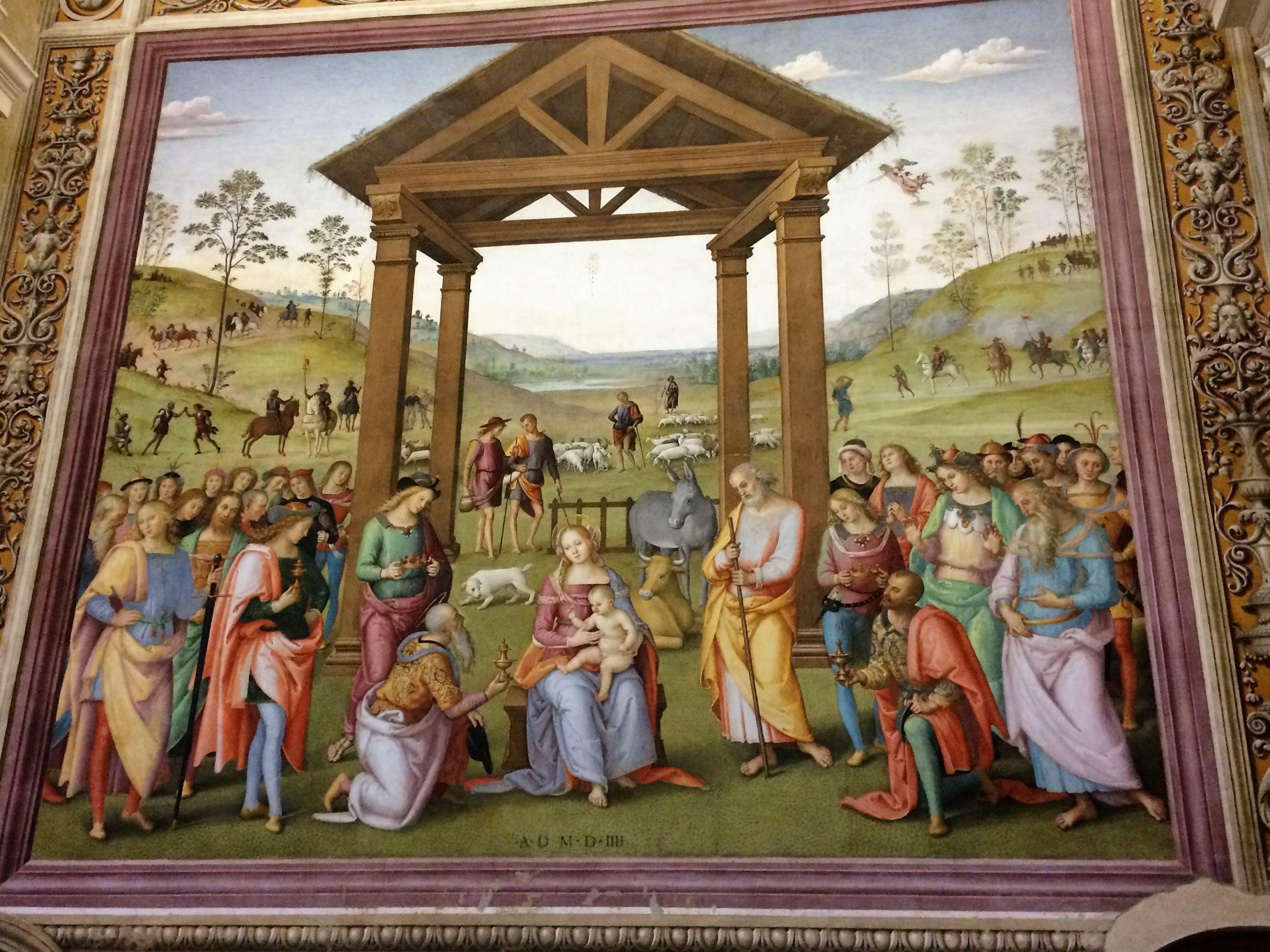 Il Perugino: Adorazione dei Magi a Città della Pieve