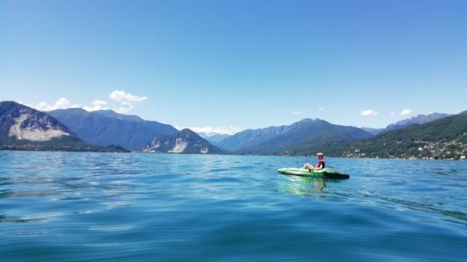 canoa, lago d'Orta, isola san Giulio, viaggiare con lentezza, slow travel