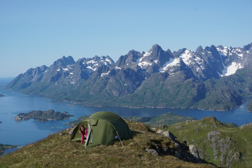 Lofoten, Raftsundet, Camping, Hiking, Trolltindene