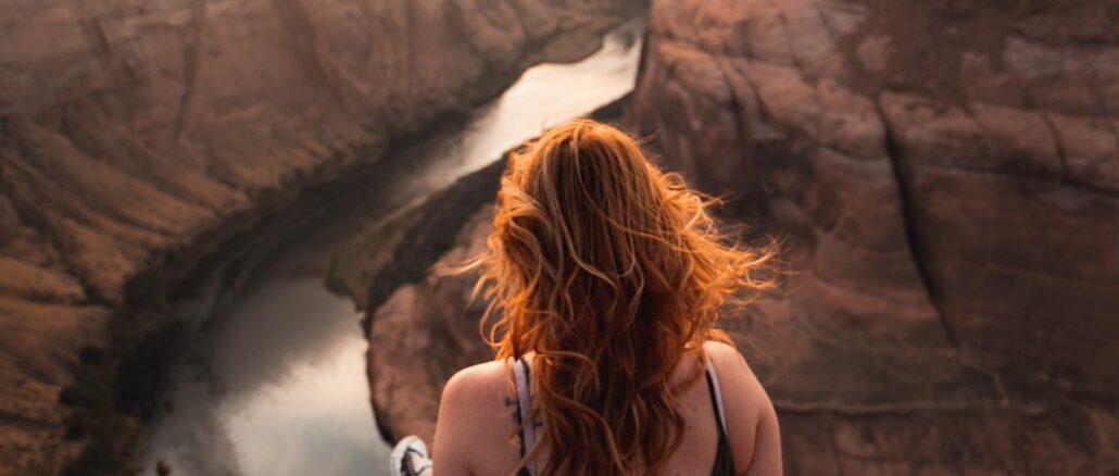 avventura, viaggio, panorama, montagna, vista mozzafiato, ragazza
