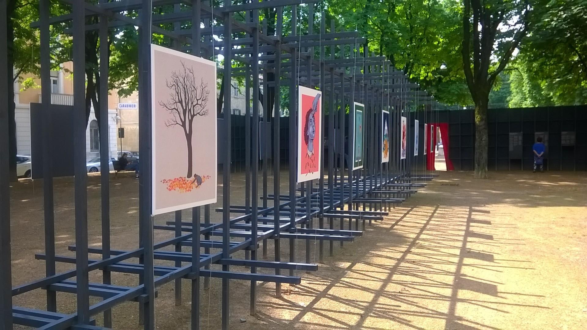 Installazione artistica all'aperto