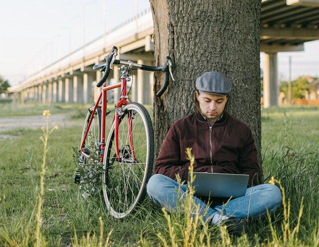 bicicletta, viaggiare con lentezza, sostenibilità, bike, remoto, pix, pixa, pex, albero, lavorare all'aria aperta
