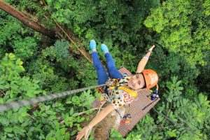 zipliner, ziplining, zip-lining, bosco, ragazza